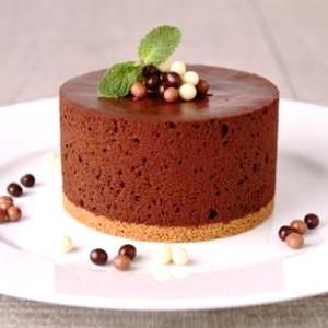 Una torta fredda al cioccolato La cheesecake