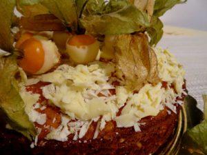 torta cioccolato bianco e alchechengi