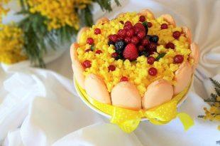 Torta mimosa lime e frutti di bosco la ricetta