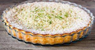La ricetta della crostata more e cocco al profumo di lime